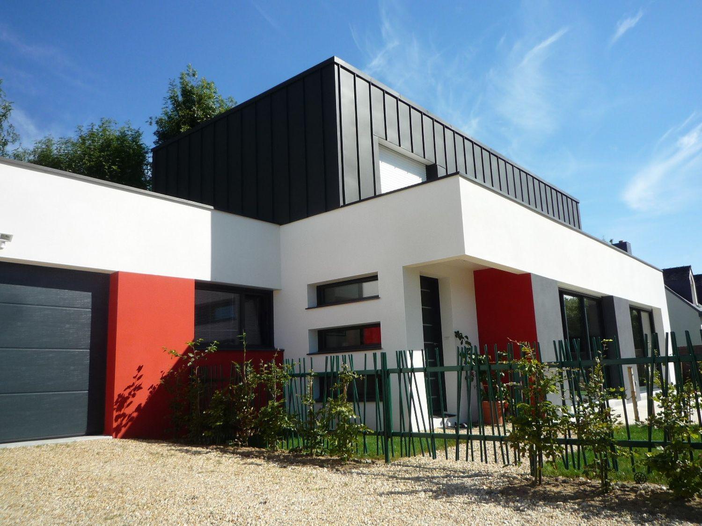 Construction-maison-cubique-en-zinc-Architecte-Gwenael-Le-Port-à-Vannes-1