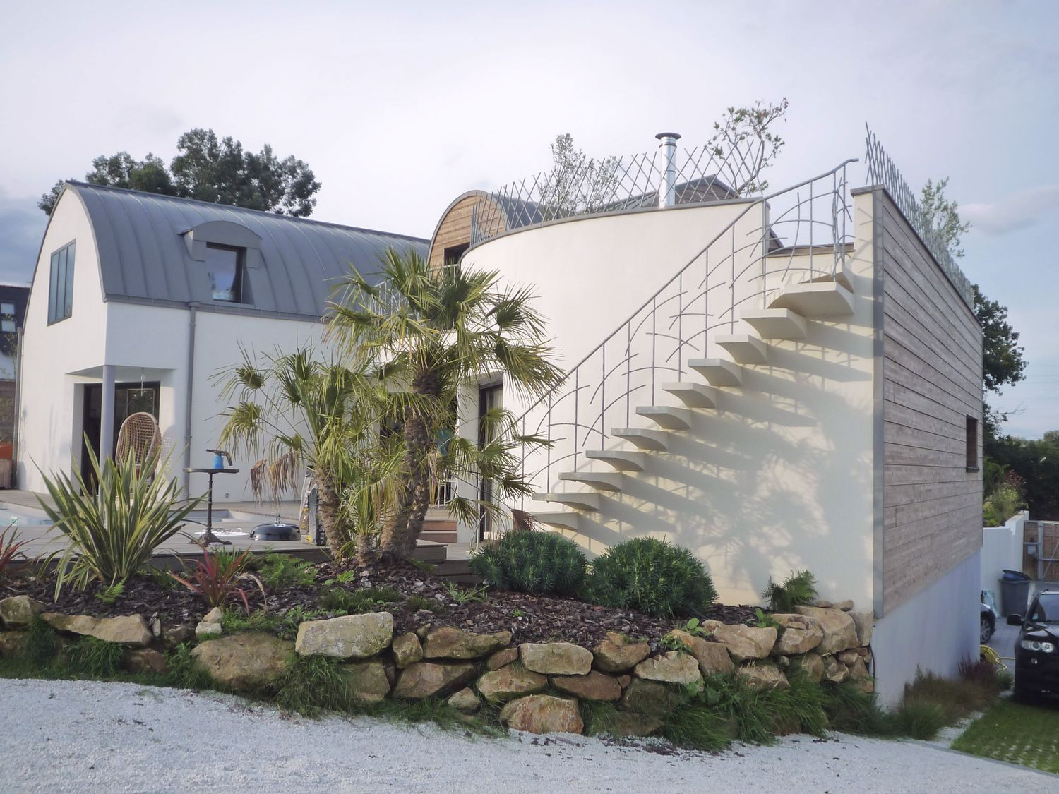 Villa-contemporaine-toiture-zinc-Architecte-à-Vannes-2